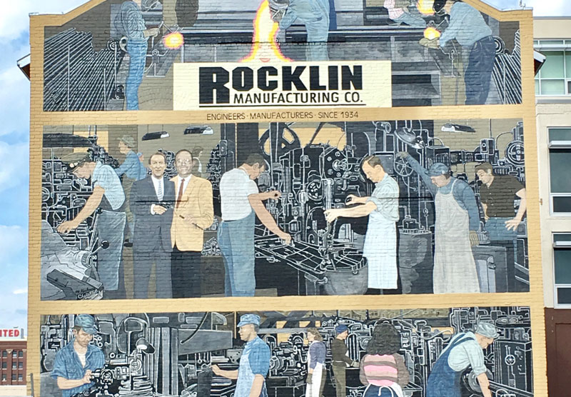 Historic Mural of Company's WWII Support Now Memorializes Second Generation Owner, Jim Rocklin