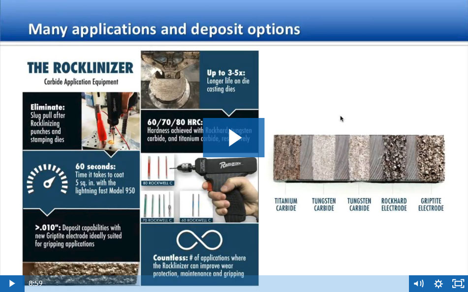 9-Minute Webinar on Common Rocklinizer and MoldMender Applications