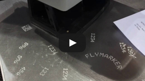 FlyMarker® mini Marking a VIN Number