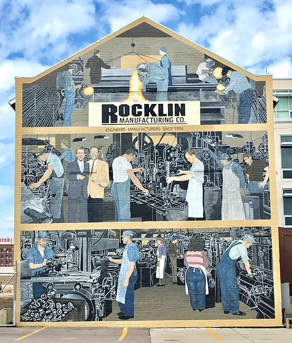 Rocklin Building Mural Painting